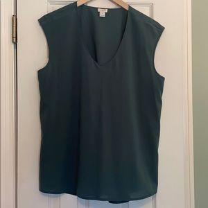 J Crew sleeveless v-neck blouse